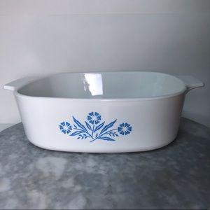 Vintage Corningware Cornflower Blue Casserole 2 qt